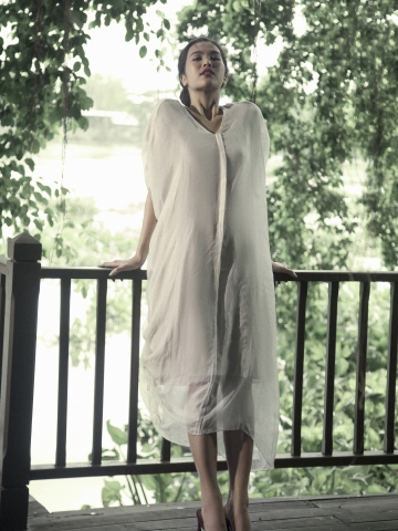 Lam Sheer Caftan Dress